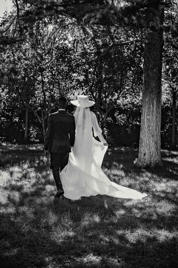 sombrero con velo novia
