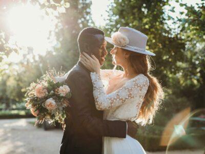 Tocados de novia únicos