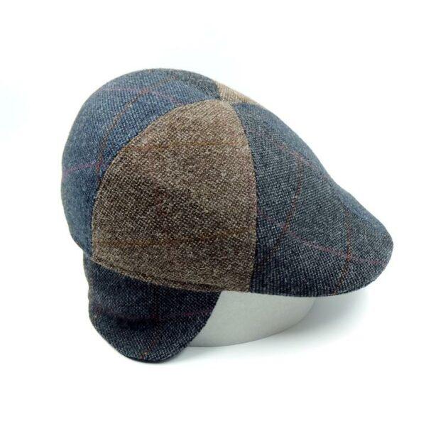 Gorra tweed parches orejeras